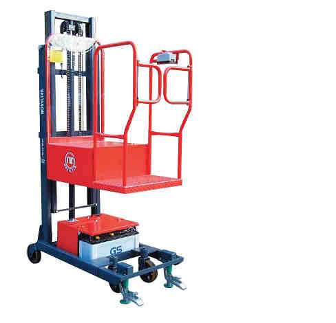 Semi-Powered Order Picker Stacker (Load:200kg, 440lb)SPOP-02