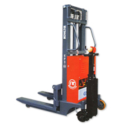 Semi-Powered  Stacker / Tray truck / Pallet Truck:ECONOMIC POWERED STACKER (1.0 TON) EPS-10/2500