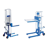 Hand  Stacker / Tray truck / Pallet Truck:Mini  Manual Pallet Stacker(Load:400 kg)MPS-04/1100~1820A