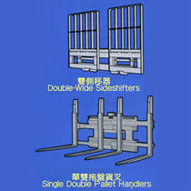 :Single Double Pallet Handlers/Double-Wide Sideshifters